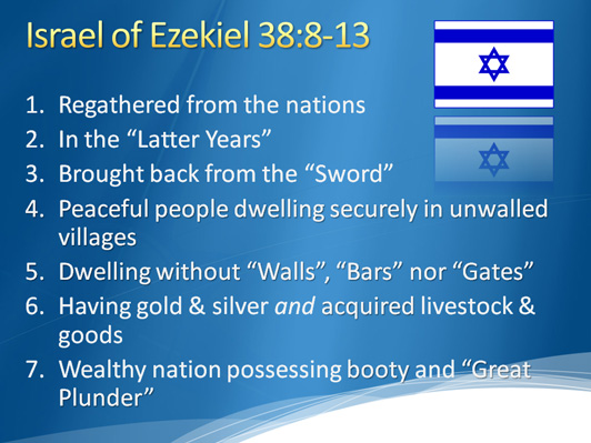 Israel of Ezekiel 38:8-13