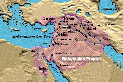 Map of Babylonian Empire